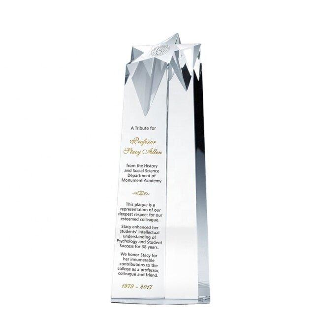 Award 3D Laser Awards Star Engraving Block Sport Block Glass Trophies Cube Crystal Blank Trophy