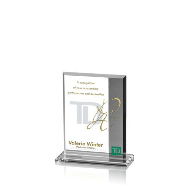 Wholesale Fashion Blank Square Crystal Glass Award Plaque With Custom Logo For Corporate Gifts