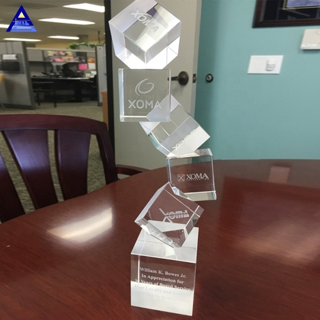 Unique Arabesque Crystal Award Business Trophy