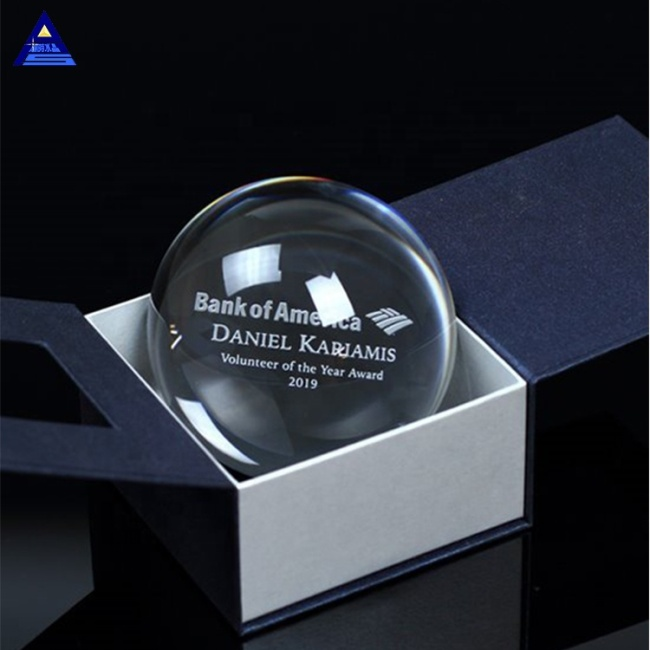 Wholesale Price Magnify Crystal Glass Ball Paperweight For Decoration