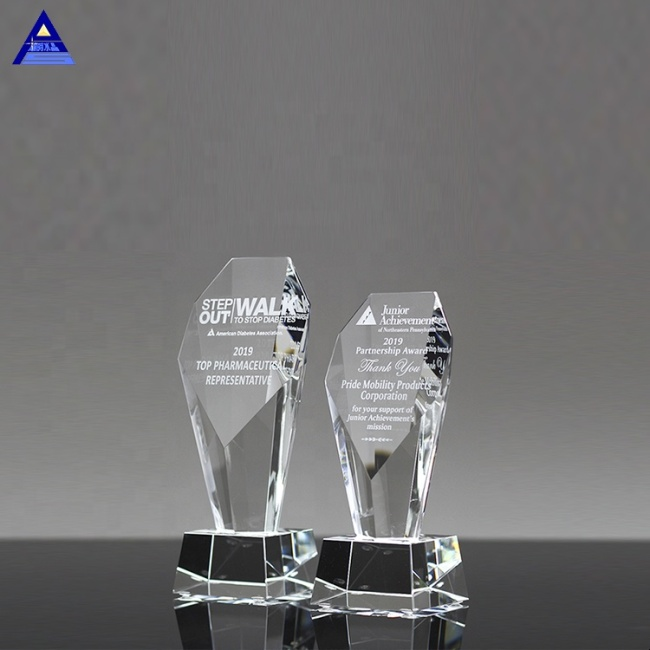 Fashion Creative Unique Design Clear Crystal Trophy Blanks
