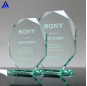 New Design Traditional Jade Glass Octagon Award Trophy,Clear Crystal Cup Trophy
