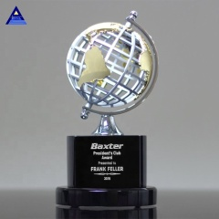 High Quality Custom Corporate Gifts Crystal Earth Globe Trophy Awards