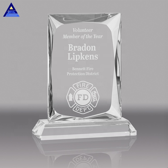 Hot Selling Cheap Crystal Glass Award Plaque Trophy For Awards Ceremony Decorations