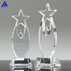 Customize K9 Crystal Star award with Champagne Base for Gifts