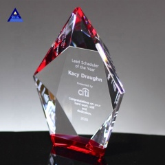High Quality Obelisk Optical Crystal Trophy Awards For Laser Engraving