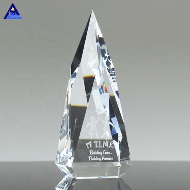 New Design Professional Cheap Glass Trophy Award For Home Decoration