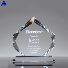 Wholesale Unique Clear Crystal Glass Award, Crystal Plaque For Souvenir Gifts