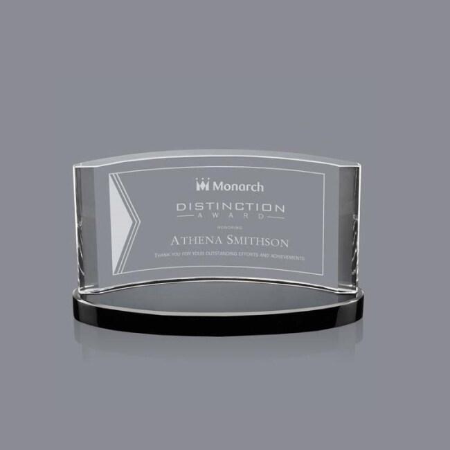 Hot China Products Wholesale Black base Crystal K9 3D Crystal laser engraving crystal trophy