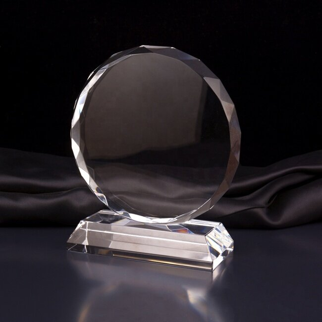 Costomized Wedding Gift Sunflower Faceted Laser Crystal Optical Award
