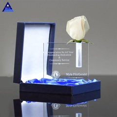 Wholesale Faceted Optical Crystal Bud Vase Retirement Gift For Crystal Award