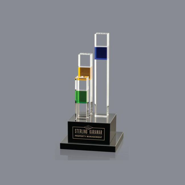 Wholesale China Merchandise 3d laser crystal cube  customized crystal trophies crystal trophy