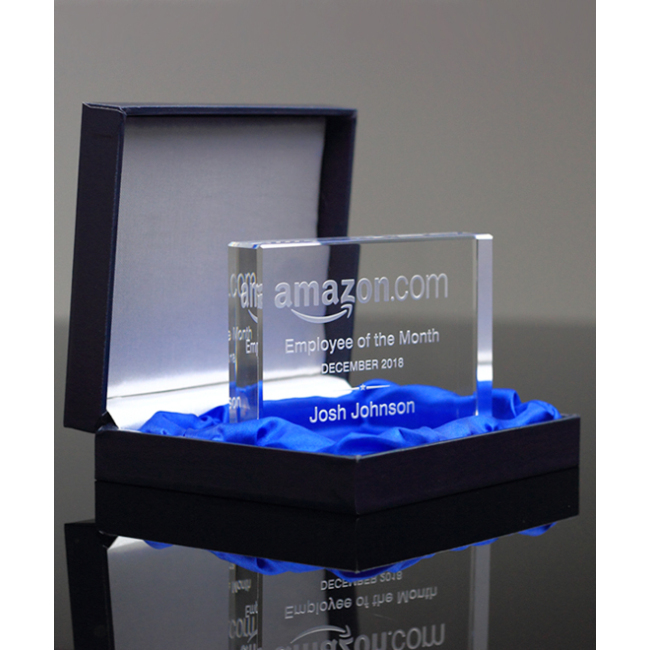 Custom Laser Engraving Newest Rectangle K9 Glass Crystal Trophy