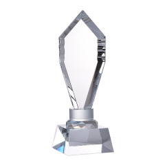 Top Sale Custom Logo Crystal Awards Trophy Souvenir Plaques With Clear Base