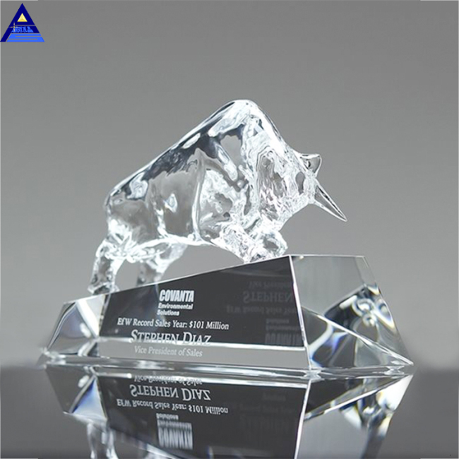 Custom New Design 3D Laser Engraved Trophy Wholesale Award Crystal