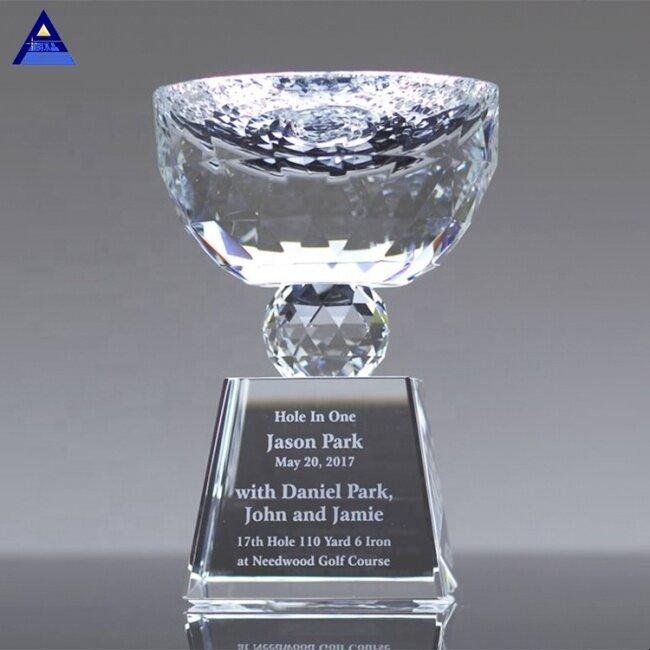 Elegant Wholesale Unique Design Triumph K9 Crystal Trophy Cup With Base