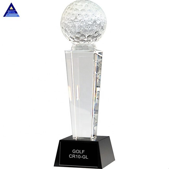 Hot Sales Honorable Gift New Design Crystal Golf Trophy