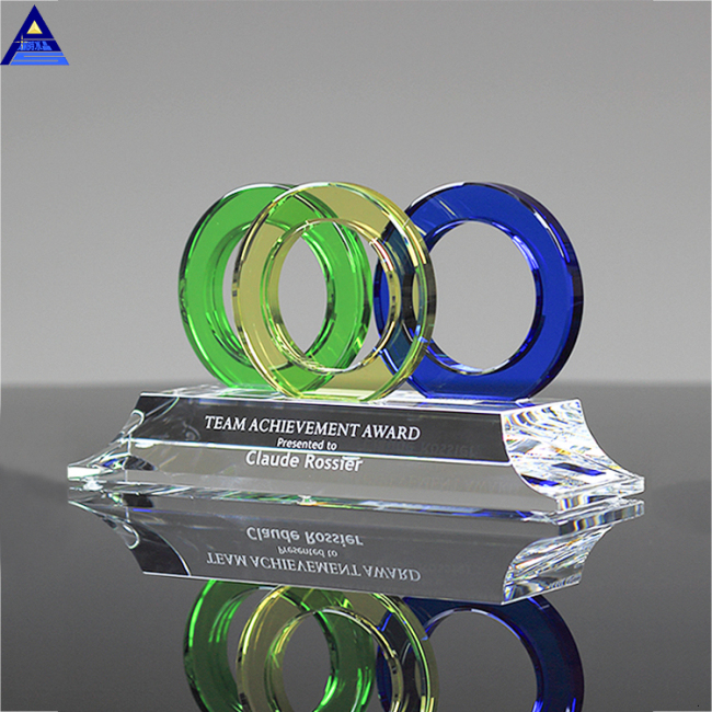 Custom Size Diamond Crystal Award Trophy,Color Glass Award Trophy
