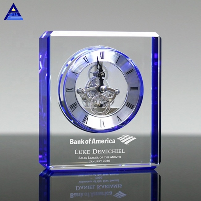 Beautiful Modern Personalized Wedding Favor Crystal Mini Clocks For Guest Giveaway Souvenirs