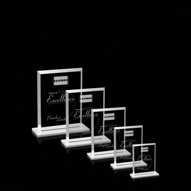 Simple Design Blank Door Shape Engraving Memorial Plaques For Souvenir Taekwondo Monument Crystal Glass Trophy Award