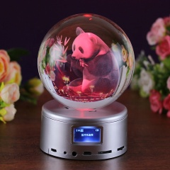 Wholesale Custom Laser Transparent Glass Ball Clear K9 Crystal Ball For Wedding Gifts Souvenirs