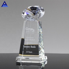 Custom Logo Sublimation Diamond Sphere Clear Crystal Awards
