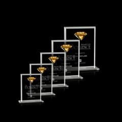 Rectangle Fashion High-end Business Custom Transparent Colored Diamond Crystal Award