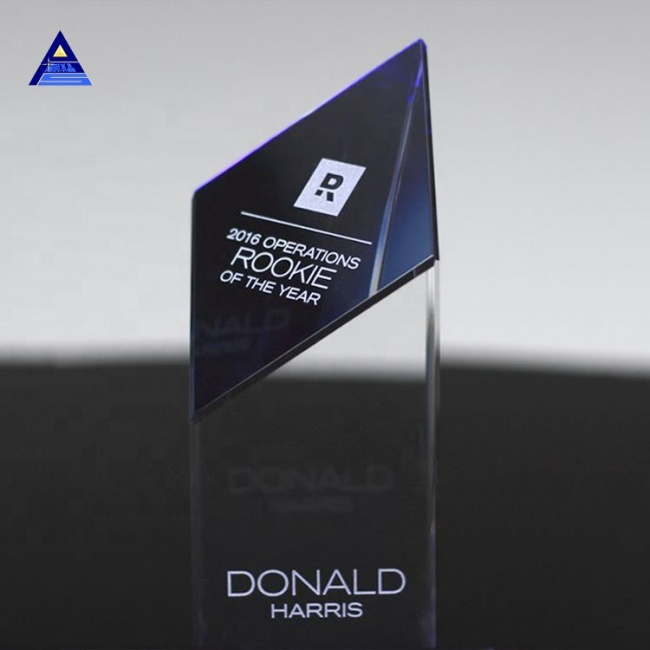 High Quality Laser Engraved Blank Crystal Obelisk Trophy Award