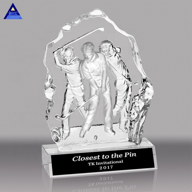 Hot Sale Manufacturer Blank Crystal Golf Basketball Trophy Award For Sports Event