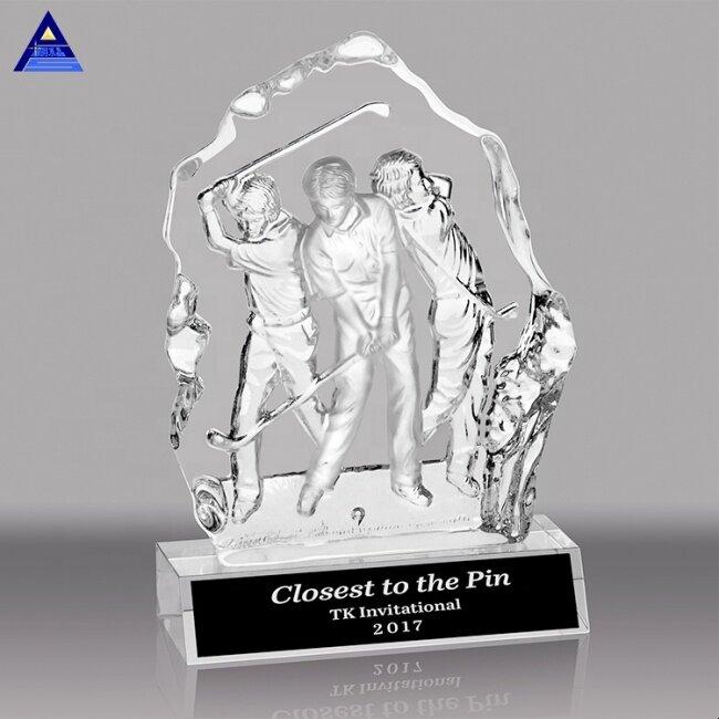 Hot Sale Manufacturer Blank Crystal Golf Basketball Trophy Award For Sports Event