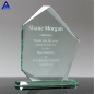 New Custom Logo Crystal Glass Trophy Pentagonal Shape Jade Glass Souvenir For Team