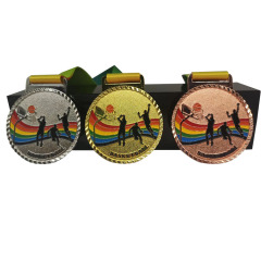 Factory Cheap And Popular Antique Gold Traditional Sports Metal Souvenir Medal With Ribbon
