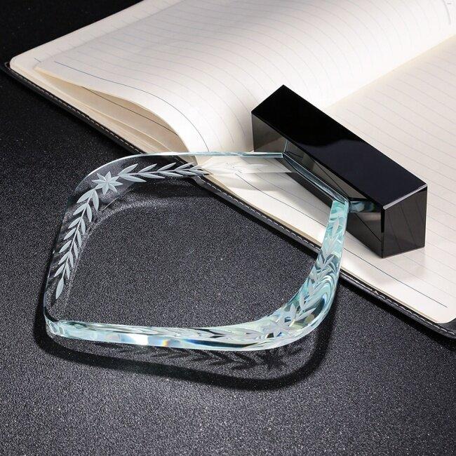FS Noble Custom Blank Crystal Plaque Crystal Shield Trophy