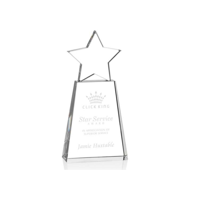 china zhejiang Wholesale custom glass star award crystal trophy