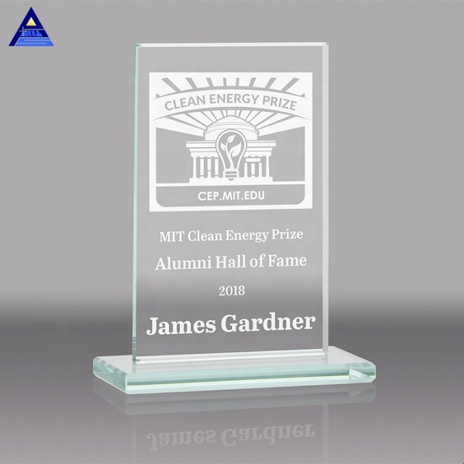 Customize Beveled Clear Crystal Plaque Award For Business Gifts