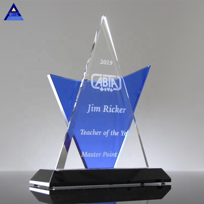 High Grade Luxury Customize Blank Decor Paperweight Synergy Recognition Pyramid Glass Crystal