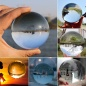 80mm size Transparent crystal glass sphere K9 clear crystal glass ball