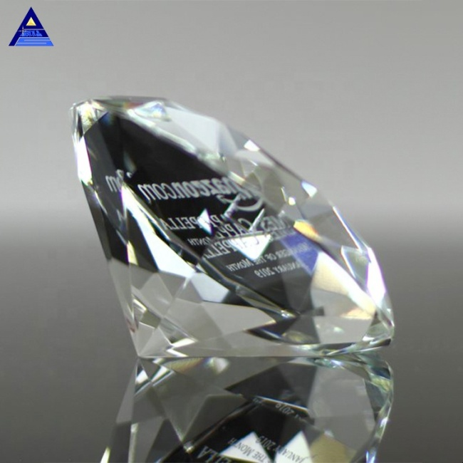 Design Unique Crystal Diamond Paperweight Trophy For Muslim Islam Gifts