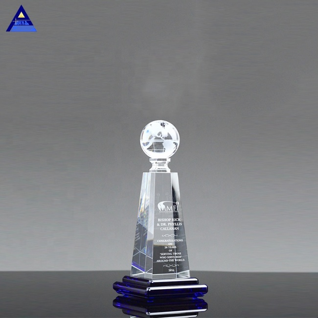 New Style Crystal Global Horizon Awards For President's Gifts