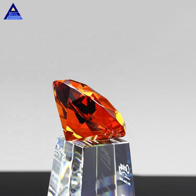 Wedding Decorations New Products Wedding Glass Crystal Large Diamond Award