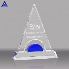 Unique Mountain Shape Glass Plaque Trophy Blank Cheap Crystal Awards for Engraving