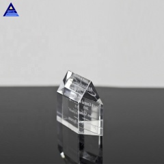 New Products Transparent Crystal House Blank Glass Paperweights Wholesale