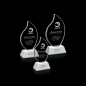 Engraved Clear Glass Oval Leaf Awards for Corporate Promotion Gifts award trophy crystal