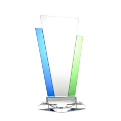 Factory Cheap Personalized Customized Crystal Trophy Laser Engraving For Souvenir Gifts
