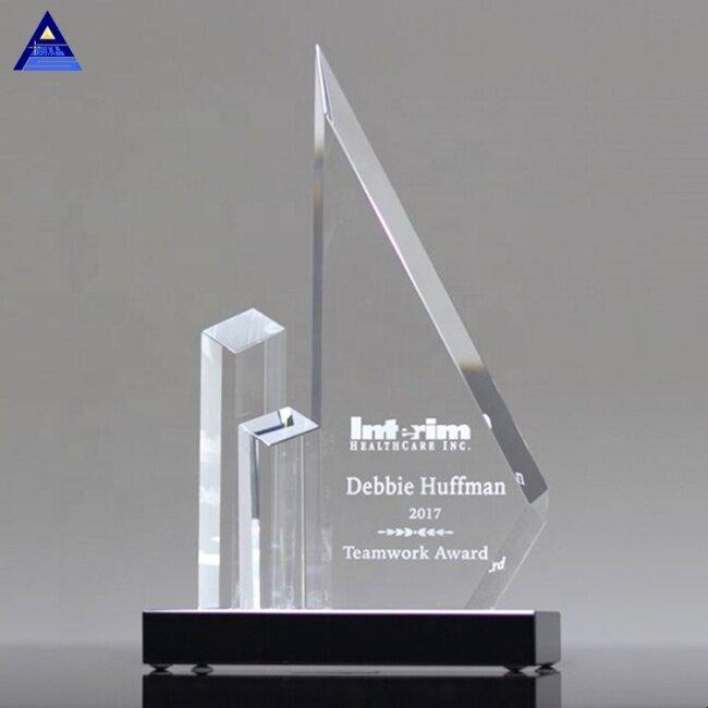 Custom Obelisk Award Emory Peak Crystal Trophy For Engraving Souvenirs Gifts