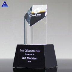 Unique Design Pentagon Crystal Trophy Tower Award