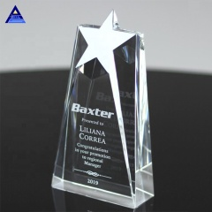 Wholesale Custom Hot Selling Crystal Trophy Star Award In Pujiang