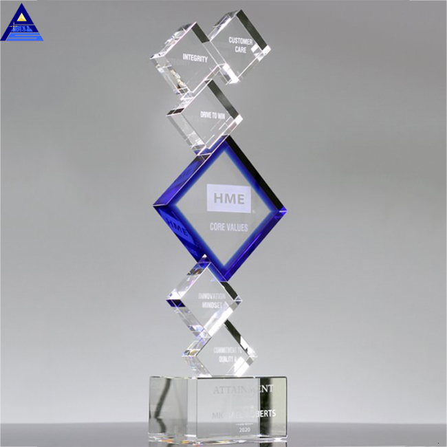 China Hot Sale Wholesale Polished Customized K9 Blank Crystal Trophy Awards