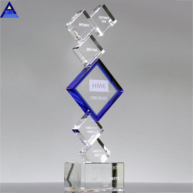 China Hot Sale Wholesale Polished Customized K9 Blank Crystal Trophy Awards
