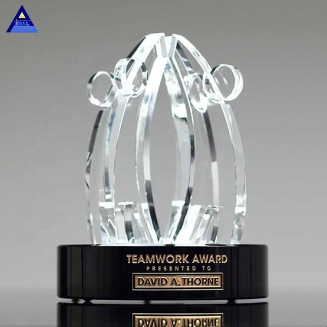 2019 Unique Customized World Teamwork Crystal Award Trophy